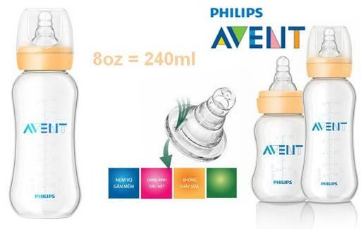 bình sữa  Avent cổ hẹp