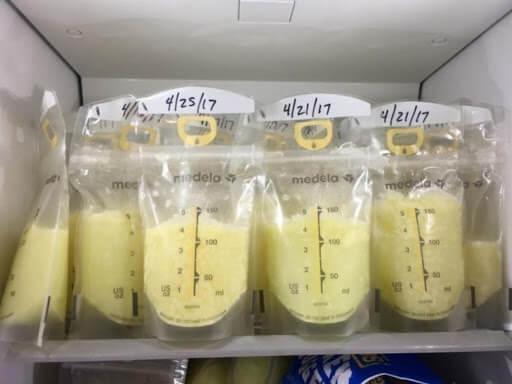 Các lưu ý khi bảo quản sữa mẹ bằng tủ lạnh