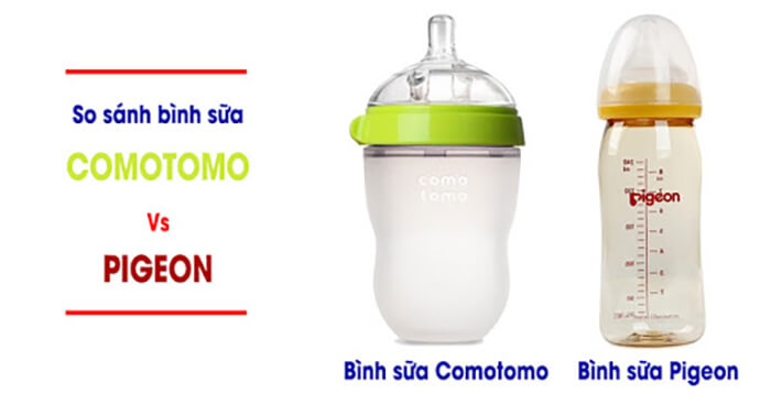 So sánh bình sữa pigeon và comotomo