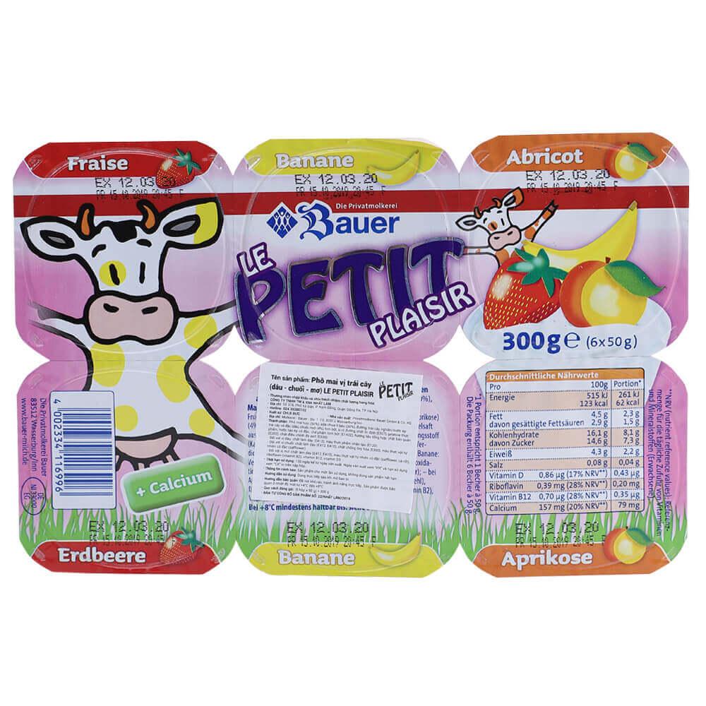 Sữa chua hoa quả Bauer Petit