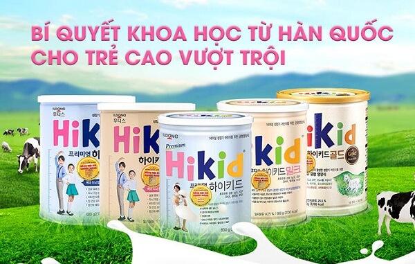 Sữa Hikid dê trẻ cao lớn