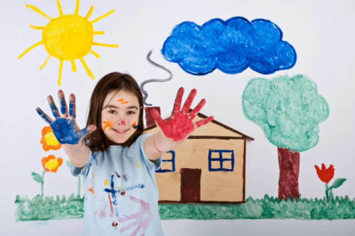 Trẻ sáng tạo khi uống sữa Hikid Hàn Quốc